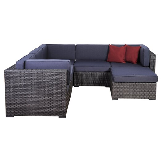 International Home Miami Aventura 6 Piece Deep Seating Group with Cushions I