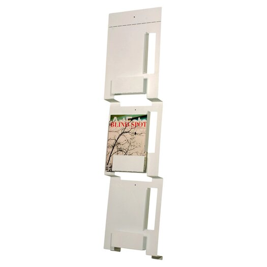 Blu Dot 2D:3D WALL MOUNT MAGAZINE RACK in white