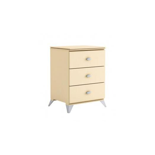College Woodwork Fraser 3 Drawer Nightstand