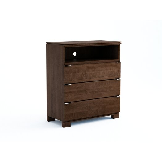 College Woodwork Grandview 3 Drawer Media Chest