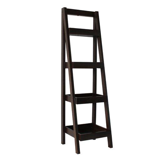 Jenlea 4 Tier Storage Ladder Bookcase