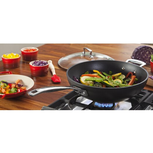 "Le Creuset Forged Hard-Anodized Nonstick 12"" Stir Fry Pan"