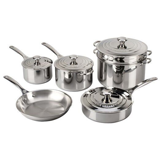 Le Creuset Stainless Steel 10-Piece Cookware Set II