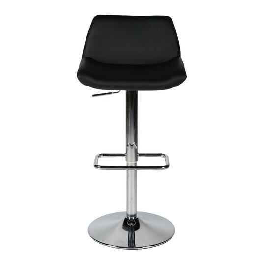 Whiteline Imports Maya Adjustable Height Bar Stool with Cushion