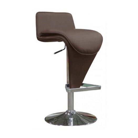 Whiteline Imports Hudson Adjustable Height Bar Stool with Cushion
