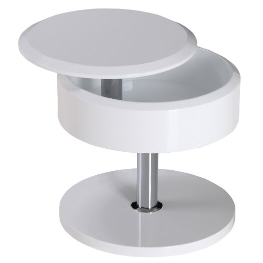 Whiteline Imports Tokyo Side Table in White