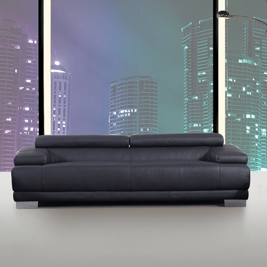 Whiteline Imports Melody Leather Sofa