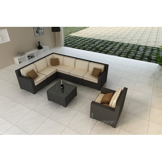 Forever Patio Hampton 8 Piece Deep Seating Group with Cushion