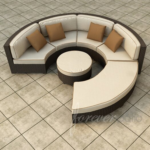 Forever Patio Hampton 4 Piece Deep Seating Group with Cushion