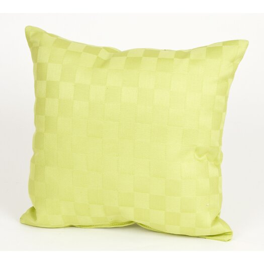 Sweet Potato by Glenna Jean LuLu Pillow with Checker Pattern