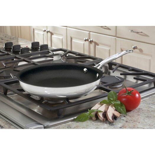 """Cuisinart Chef's Classic Stainless Steel 10"""" Nonstick Skillet"""