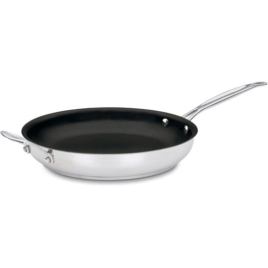 """Cuisinart Chef's Classic™ Stainless 12"""" Non-Stick Skillet"""