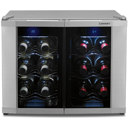 Cuisinart 12 Bottle Dual Zone Thermoelectric Wine Refrigerator