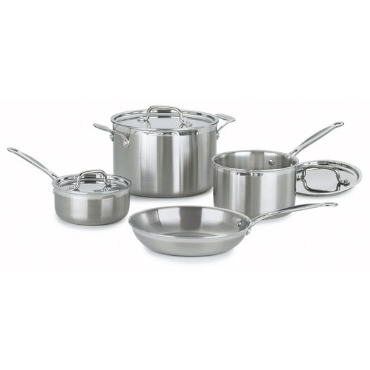 Cuisinart MultiClad Pro 7-Piece Cookware Set