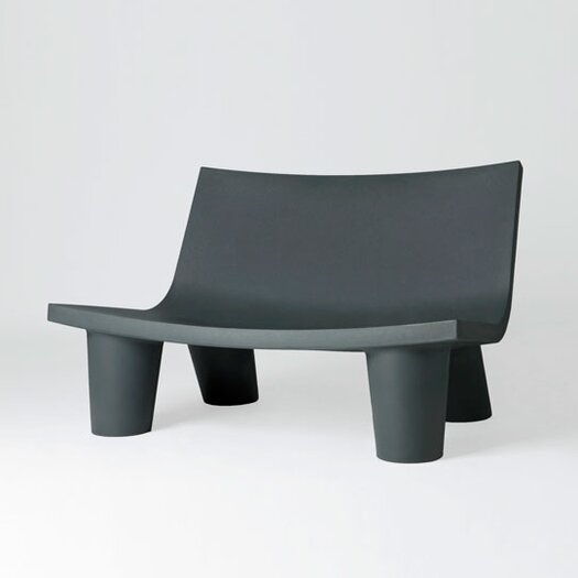 Slide Design Low Lita Polyethylene Love Garden Bench