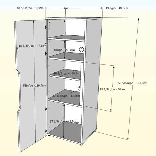 "Nexera Next 19"" Storage Cabinet"