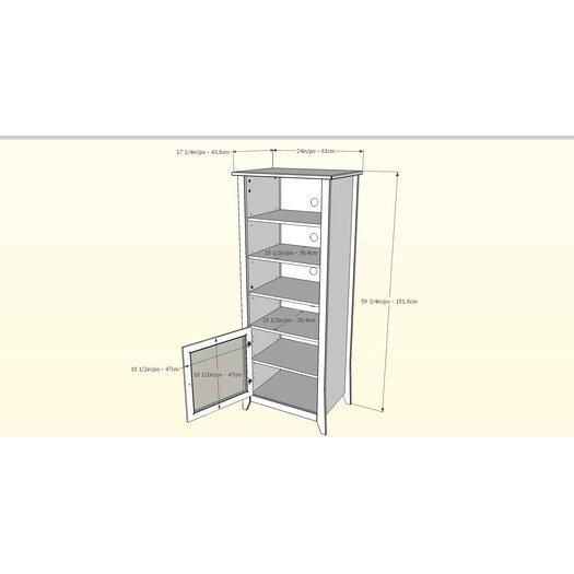 Nexera Tuxedo Multimedia Cabinet