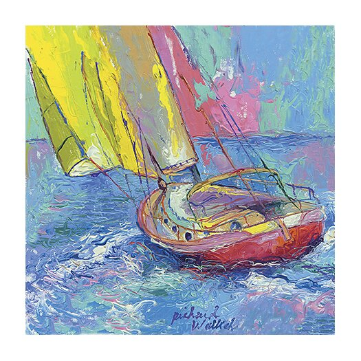 "iCanvasArt ""Sailboat"" Canvas Wall Art by Richard Wallich"