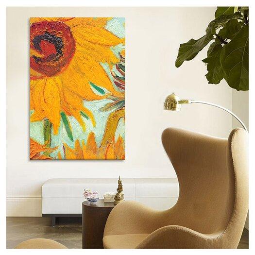 iCanvas 'Twelve Sunflowers (Detail)' by Vincent Van Gogh Painting Print on Canvas