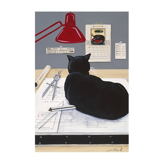 iCanvas 'Harold the Architectural Paperweight' by Jan Panico Painting Print on Canvas