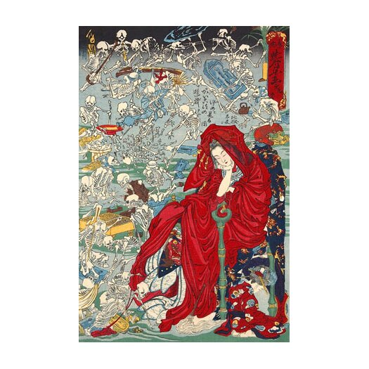 iCanvas 'Japanese Jigoku Dayu (Hell Courtesan)' by Kawanabe Kyosai Painting Print on Canvas