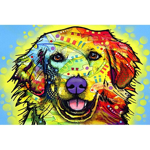 iCanvas 'Golden Retriever' by Dean Russo Graphic Art on Canvas