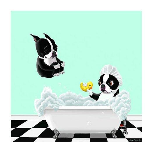 iCanvas 'Bath Tub BT' by Brian Rubenacker Graphic Art on Canvas