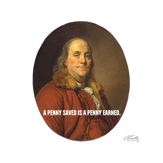 iCanvas Benjamin Franklin Quote Canvas Wall Art
