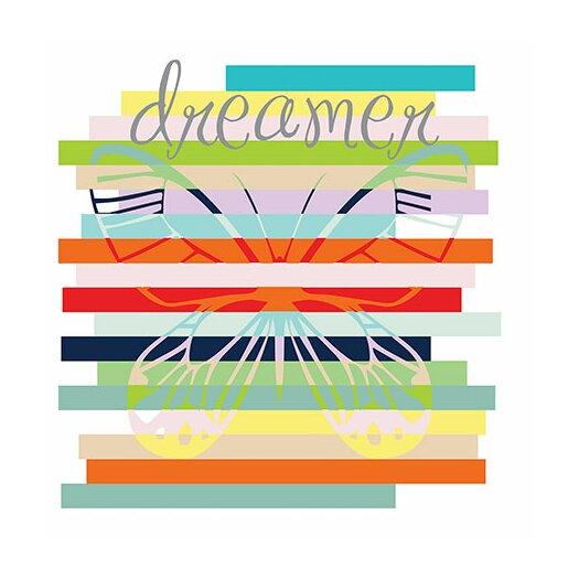 """iCanvas """"Butterfly Rainbow"""" Canvas Wall Art by Erin Clark"""