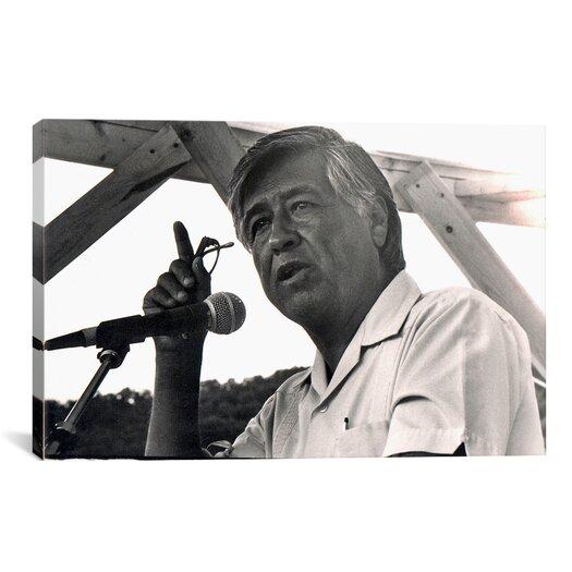iCanvas Political Cesar Chavez Portrait Photographic Print on Canvas