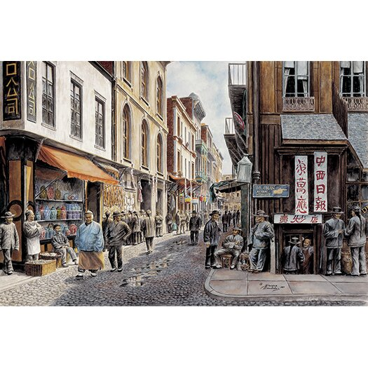 iCanvas 'China Town' by Stanton Manolakas Painting Print on Canvas