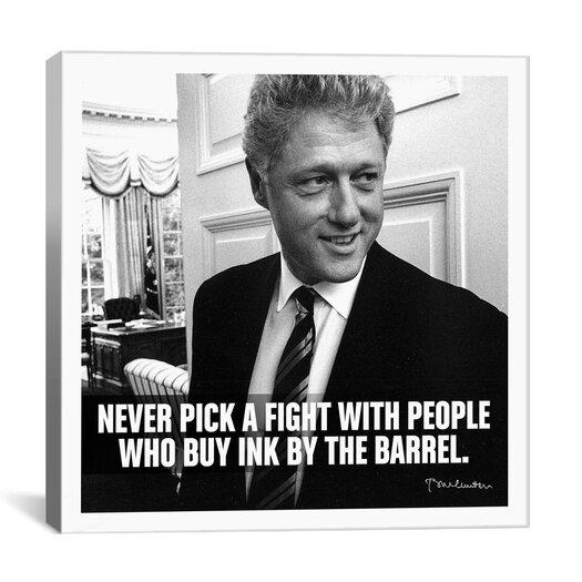 iCanvas Bill Clinton Quote Canvas Wall Art