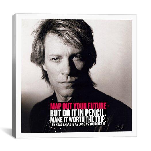 iCanvas Bon Jovi Quote Canvas Wall Art