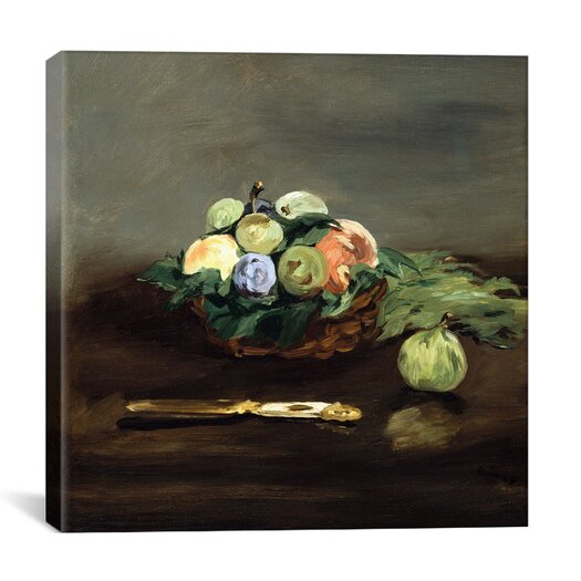 "iCanvas ""Basket of Fruit"" Canvas Wall Art by Edouard Manet"