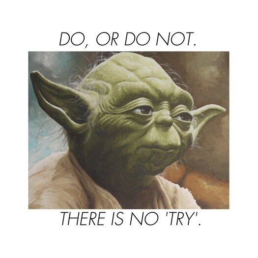 iCanvas Yoda Quote Canvas Wall Art