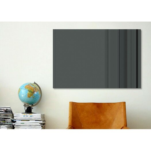 iCanvas Striped Charcoal Gray Graphic Art on Canvas