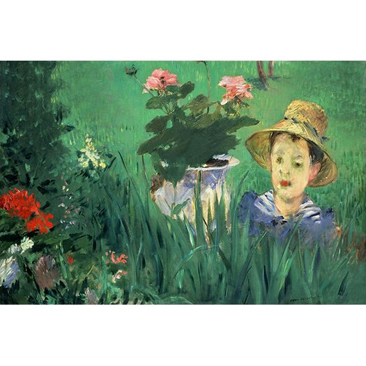 iCanvas 'Boy in Flowers' by Edouard Manet Painting Print on Canvas