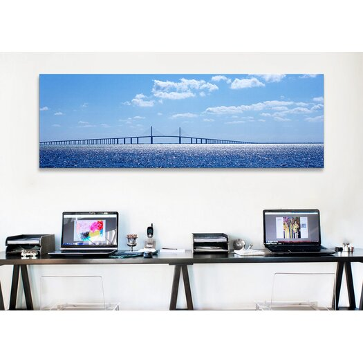 iCanvasArt Panoramic Sunshine Skyway Bridge, Tampa Bay, Florida Photographic Print on Canvas