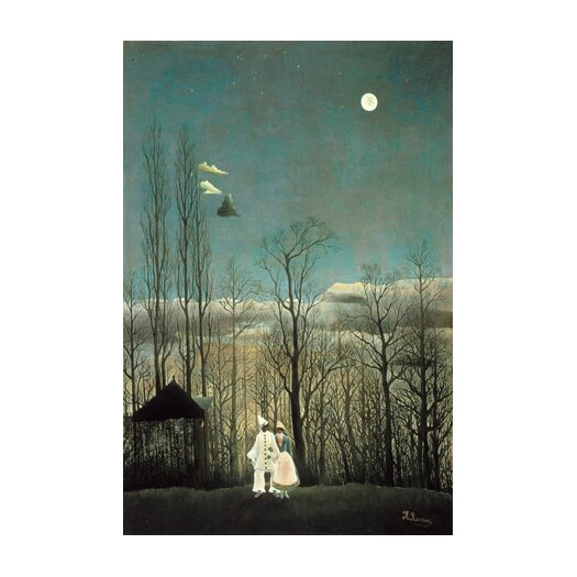 iCanvas 'A Carnival Evening 1886' by Henri Rousseau Painting Print on Canvas