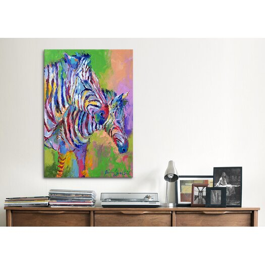 iCanvas 'Zebra' by Richard Wallich Painting Print on Canvas