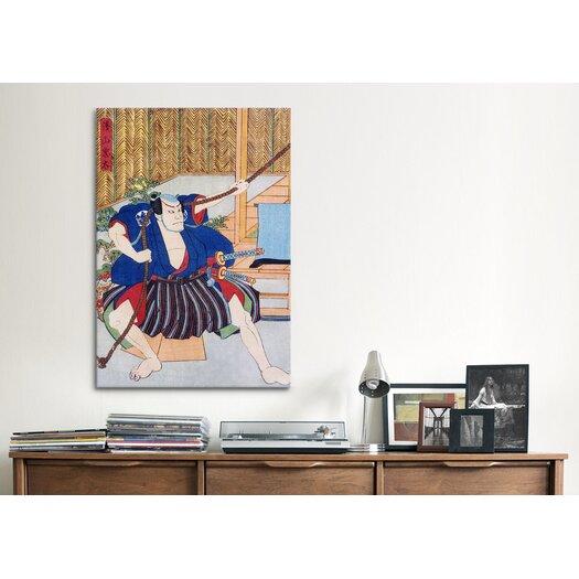 iCanvas Japanese 'Actor Ichikawa' by Kunisada (Toyokuni) Painting Print on Canvas