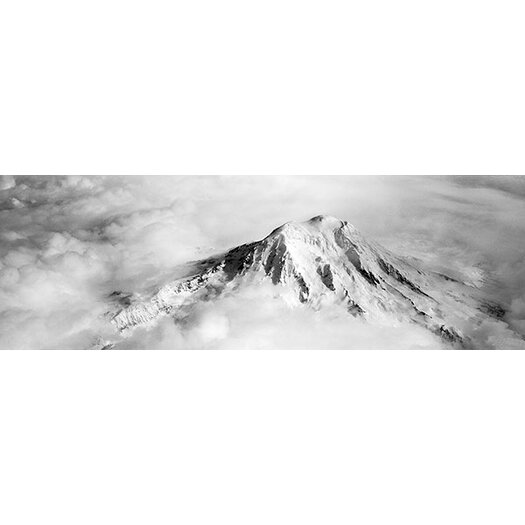 iCanvas Panoramic Aerial View of a Snowcapped Mountain, Mt Rainier, Mt Rainier National Park, Washington State Photographic Print on Canvas