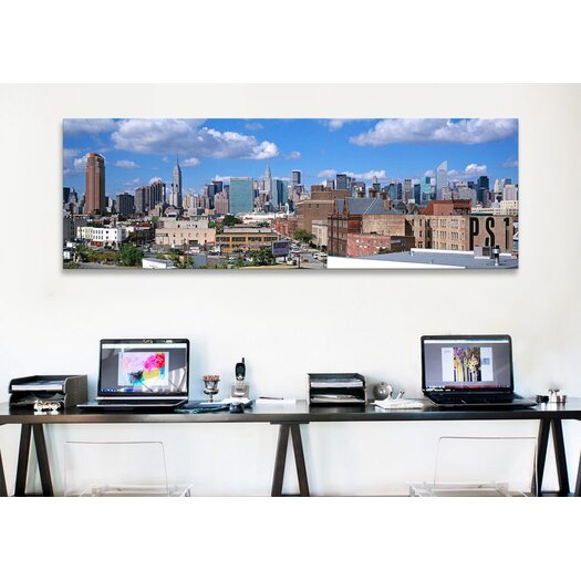 iCanvas Panoramic Aerial View of an Urban City in Queens, New York Photographic Print on Canvas