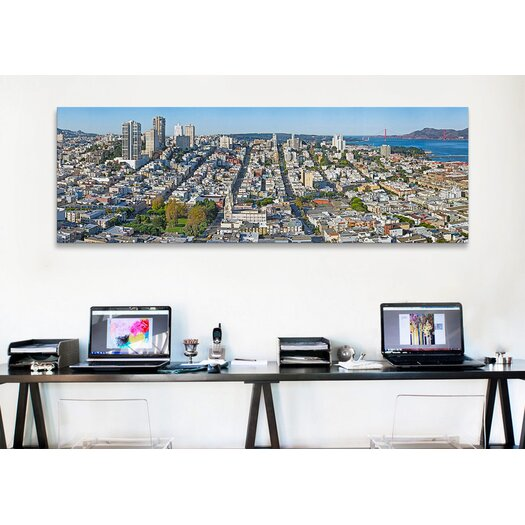 iCanvas Panoramic Coit Tower Telegraph Hill, San Francisco, California Photographic Print on Canvas