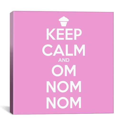iCanvas Kitchen Keep Calm and Om Nom Nom II Canvas Art
