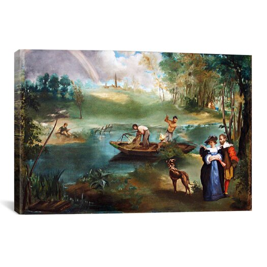 iCanvasArt 'Fishing (La Peche)' by Edouard Manet Painting Print on Canvas