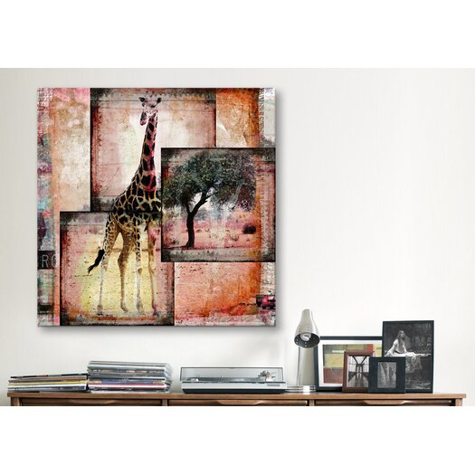 "iCanvas ""Girafe"" by Luz Graphics Graphic Art on Canvas"