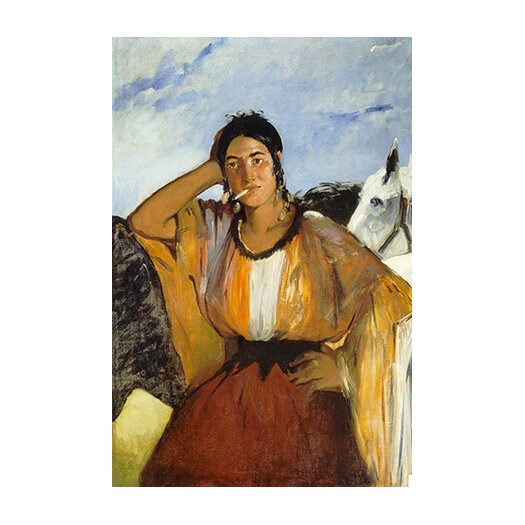 iCanvasArt 'Gypsy with a Cigarette' by Edouard Manet Painting Print on Canvas