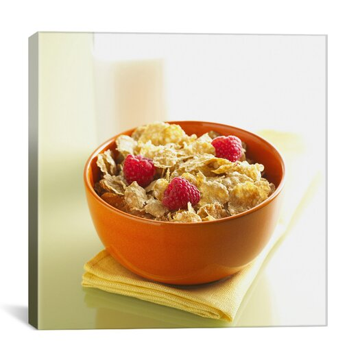 iCanvas Cornflakes Cereal Photographic Canvas Wall Art