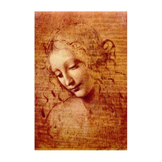 iCanvas 'Female Head' by Leonardo da Vinci Painting Print on Canvas